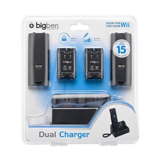 Wii Charge Station Fekete ( töltő + 2 akkumulátor )