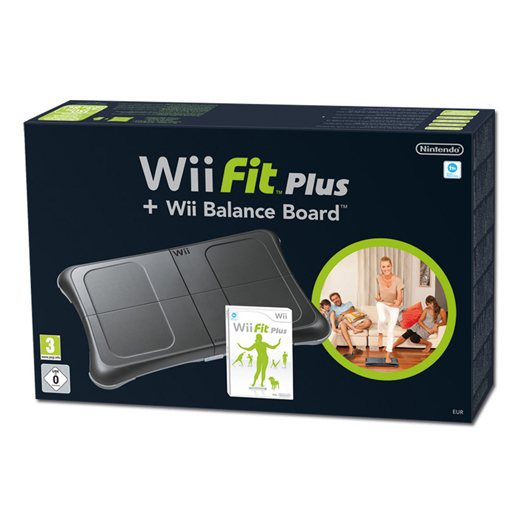 Wii Fit - Wii Fit Plus szoftverrel (Fekete)
