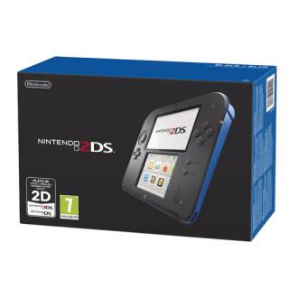 Nintendo 2DS (Fekete és Kék) + New Super Mario Bros. 2 3DS