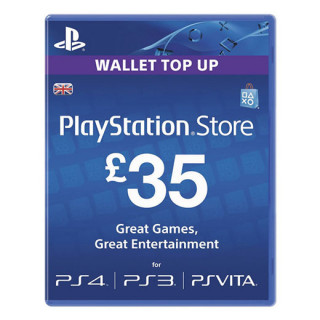 PSN Network kártya 35 Font (PSN Network Card - UK) MULTI