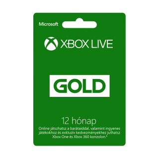 Xbox Live Gold 12 hónapos előfizetés MULTI