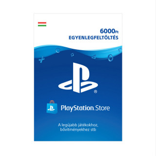 PSN Network kártya 6000 Ft (PSN Network Card - HU) MULTI