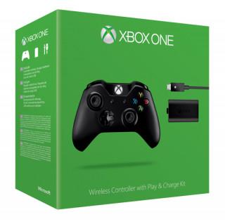 Xbox One Vezeték nélküli Kontroller (Fekete) + Play and Charge Kit Xbox One