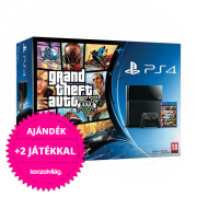 Playstation 4 (PS4) 500 GB + Grand Theft Auto V (GTA 5) PS4