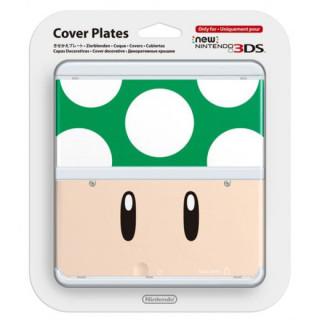 New Nintendo 3DS Cover Plate (Gombás, zöld) (Borító) 3DS