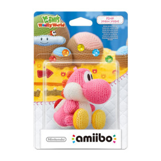 Yarn Yoshi amiibo figura (pink) - Yoshi's Woolly World Collection Ajándéktárgyak