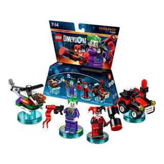 LEGO Dimensions DC Comics Team Pack (The Joker, Harley Quinn, The Joker's Chopper, Quinn-mobile) Ajándéktárgyak