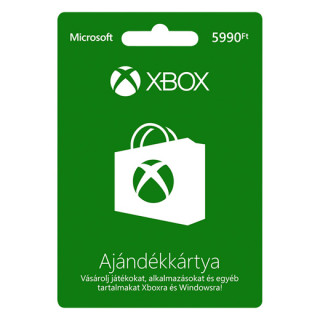 Xbox Live Feltöltőkártya 5990 HUF Több platform