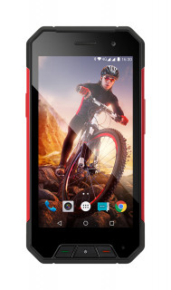 Evolveo StrongPhone Q7 LTE Black-Red Mobil