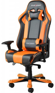 Gamer szék DXRacer King Fekete/Narancs (GC-K06-NO-S3) PC