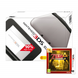 Nintendo 3DS XL (Fekete és Ezüst) + The Legend of Zelda A Link Between Worlds 3DS