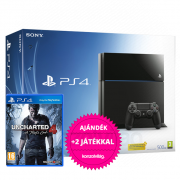 Playstation 4 (PS4) 500 GB + Uncharted 4 A Thief's End PS4