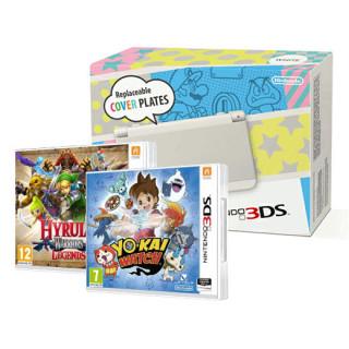 New Nintendo 3DS (Fehér) + Yo-Kai Watch + Hyrule Warriors Legends 3DS