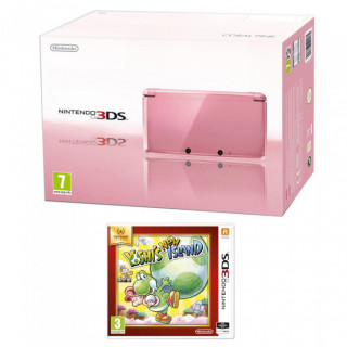 Nintendo 3DS Pink + Yoshi's New Island Select 3DS