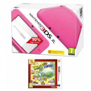 Nintendo 3DS XL Pink + Yoshi's New Island Select 3DS