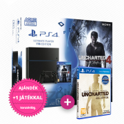 Playstation 4 (PS4) 1 TB + Uncharted 4 A Thief's End + Nathan Drake Collection PS4
