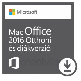 Microsoft Office for MAC 2016 Otthoni és diákverzió, bármilyen elérhető nyelven (Letölthető) PC