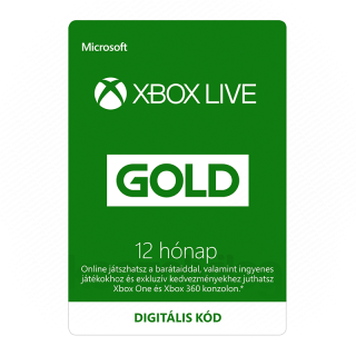 12 hónapos Xbox LIVE Gold előfizetés (Letölthető) Több platform