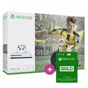 Xbox One S (Slim) 1TB + FIFA 17 + 2 kontroller XBOX ONE