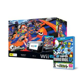 Nintendo Wii U Premium (Fekete) + Splatoon + Super Mario + Luigi WII U