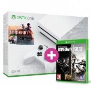 Xbox One S 500GB Battlefield 1 Bundle + ajándék Rainbow Six Siege és választható ajándék XBOX ONE