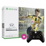 Xbox One S (Slim) 500 GB + FIFA 17 + 1 ajándék kontroller XBOX ONE