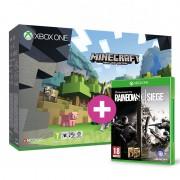 XBOX ONE S (Slim) 500GB + Minecraft Favourites Pack + Minecraft Builder's Pack + Minecraft: Windows 10 Beta + Rainbow Six Siege és választható ajándék XBOX ONE