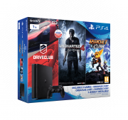 Playstation 4 (PS4) Slim 1 TB + Driveclub + Uncharted 4 + Ratchet and Clank PS4