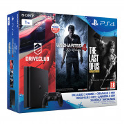 Playstation 4 (PS4) Slim + Driveclub + Uncharted 4 + The Last of Us + Tearaway Unfolded PS4