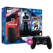 Playstation 4 (PS4) 1TB Family Pack + Tearaway Unfolded + ajándék kontroller PS4
