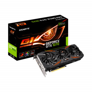 Gigabyte GeForce GTX 1070 8GB G1 Gaming videokártya (GV-N1070G1 GAMING-8GD) PC