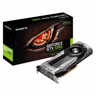 GIGABYTE GeForce GTX 1080 Founders Edition 8GB GDDR5X 256bit PCIe (GV-N1080D5X-8GD-B) Videokártya PC