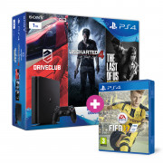 Playstation 4 (PS4) Slim 1TB + Driveclub + Uncharted 4 + The Last of Us + FIFA 17 PS4
