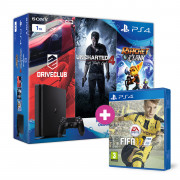 Playstation 4 (PS4) Slim 1TB + Driveclub + Uncharted 4 + Ratchet and Clank + FIFA 17 PS4