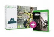 Xbox One S (Slim) 500GB (kék) + FIFA 17 + Rainbow Six Siege + választható ajándék XBOX ONE