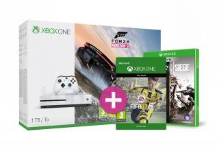 Xbox One S 1TB Forza Horizon 3 + FIFA 17 + ajándék Rainbow Six Siege és választható ajándék Xbox One