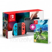 Nintendo Switch (Piros-Kék) The Legend of Zelda Breath of the Wild Bundle Switch
