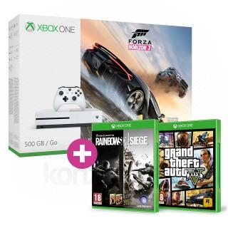 Xbox One S 500GB Forza Horizon 3 + GTA V + Rainbow Six Siege és választható ajándék Xbox One
