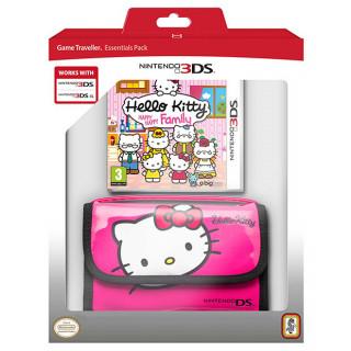 Hello Kitty: Happy Happy Family + 3DS Hordozó tok (Rózsaszín) 3DS