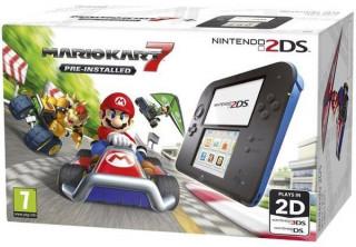 Nintendo 2DS Black and Blue + Mario Kart 7 3DS