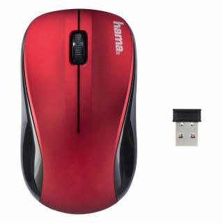 Hama 134939 Vezeték nélkül optikai egér AM-8100 piros PC
