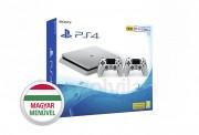 PlayStation 4 Slim (PS4) 500 GB Ezüst két kontrollerrel (Limitált kiadás) PS4