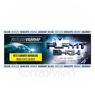 PlayIT Show Budapest 2017 Ősz - Deluxe jegy (Vasárnap) AJÁNDÉKTÁRGY
