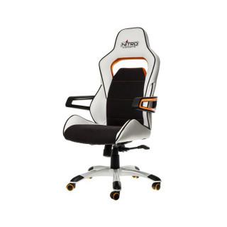 Nitro Concepts E220 Evo Fehér-Narancs Gamer Szék (NC-E220E-WO) PC