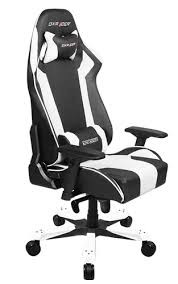 Gamer szék DXRacer King Fekete/Fehér (GC-K06-NW-S3) PC