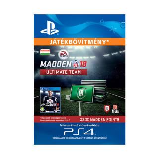 2200 Madden NFL 18 Ultimate Team Points - ESD HUN (Letölthető) PS4