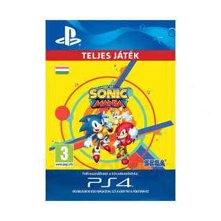 Sonic Mania - ESD HUN (Letölthető) PS4