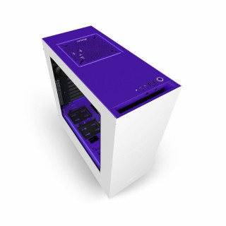 NZXT Source 340 Elite (Fehér-Lila) (Táp nélküli) ATX ház (CA-S340W-W3) PC