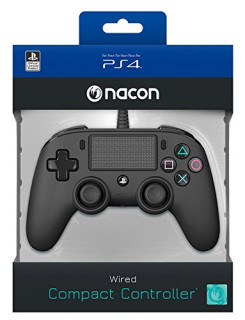 Playstation 4 (PS4) Nacon Wired Compact Kontroller (Fekete) PS4