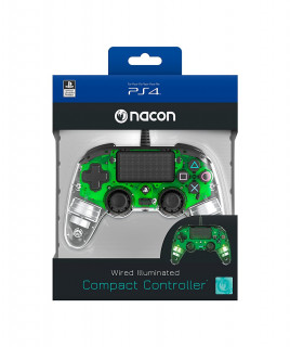 PlayStation 4 (PS4) Nacon Wired Compact Kontroller (Illuminated) (Zöld) PS4